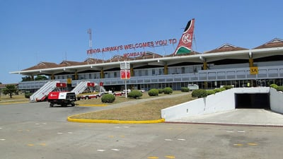 Exterior of Mombasa Airport