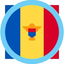 Moldova round blue border