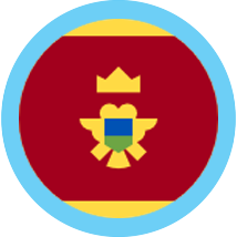 Montenegro round blue border