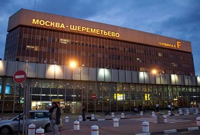 outside front view of moscows sheremetyevo airport