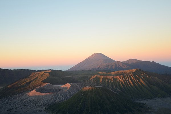 Aerial View Mount Bromo