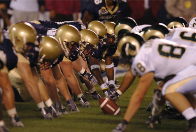 NFL game kickoff