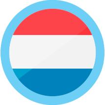 Netherlands icon round blue border