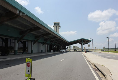 Outside the front of Northwest Florida Beaches International Airport