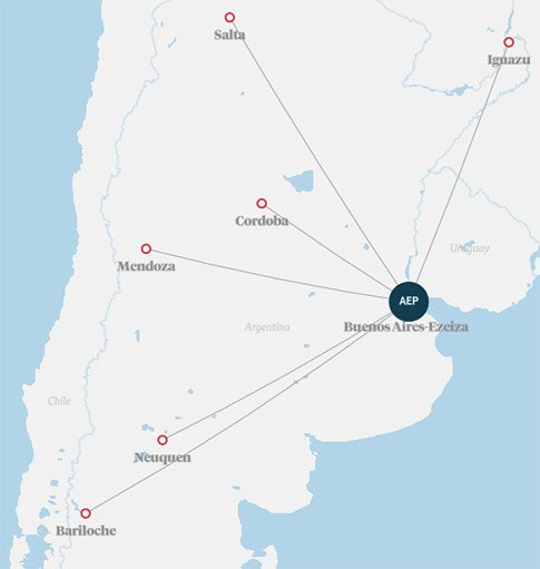 Norwegian Air Argentina route map