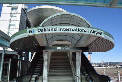 Oakland International Airport entrance