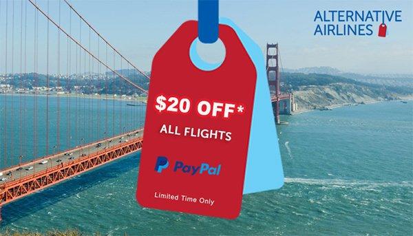 $20 Off Airfare Promo Code