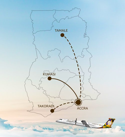 PassionAir route map