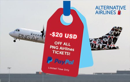 image of airline with a red and blue tag overlaid
