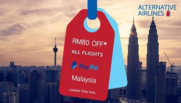 RM80 Flight Voucher Code PayPal