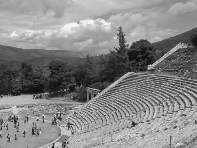 Ancient stadium in Olymia, the site of the original olympics