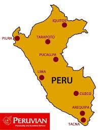 Mapa de ruta de Peruvian Airlines