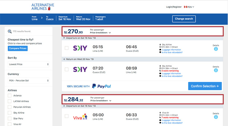 Step by step guide on how to use the Peruvian sol to buy airline tickets