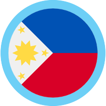 The Philippines round flag blue border