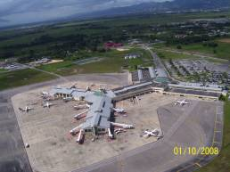 Bird's-eye view of Piarco International Airport