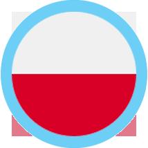 Poland round blue border