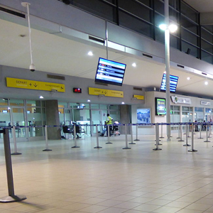 check-in area of Port Bouet Airport terminal
