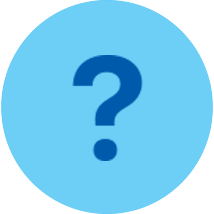 Question mark blue circle
