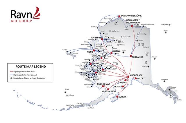 Ravn Alaska route map