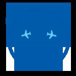 Red eye flight icon