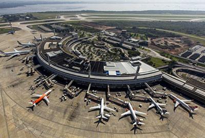 Aerial view of Rio de Janeiro Galeao International Airport