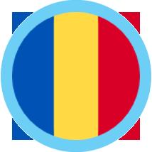 Romania icon round blue border