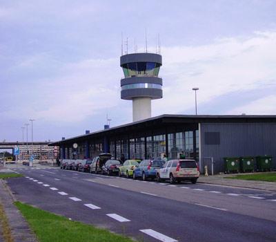 outside Copenhagen Roskilde Airport