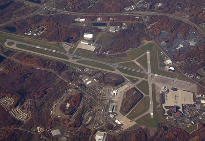 aerial view of SWF airport