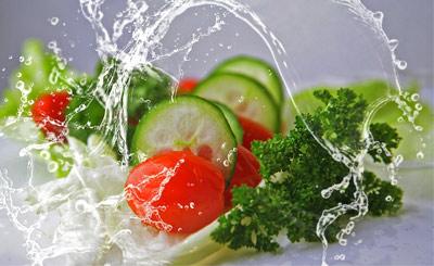 Salad cucumber lettuce tomato