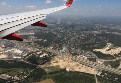 San Antonio International Airport aerial view