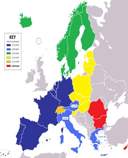 Schengen Area Map