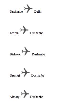 tajikistan airlines destinations