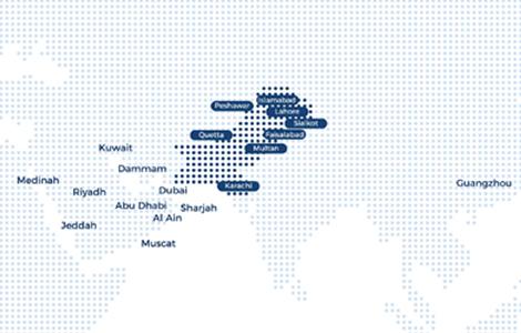 Shaheen Air Route Map