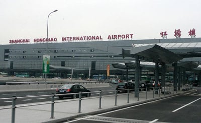 Outside the front of Shanghai Hongqiao International Airport