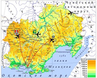 Siberian Light Aviation Route Map