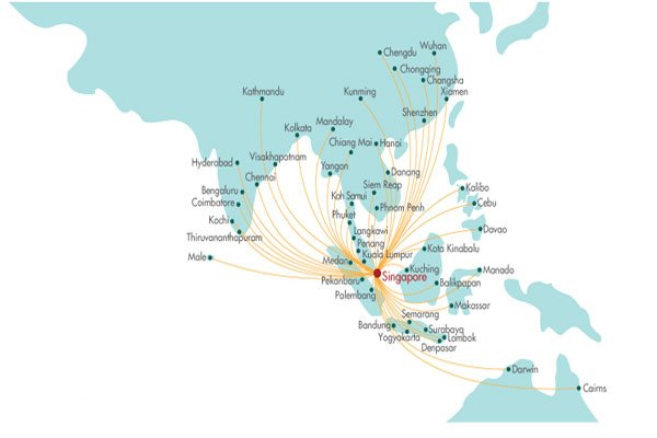 Silk Air Route Map