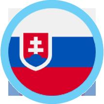 Slovakia round blue border