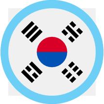 South Korea Flag Round