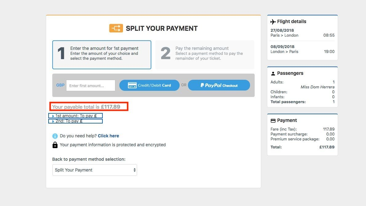 Split Your Payment Guide — Step 5