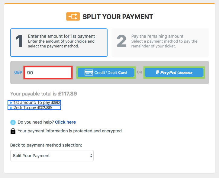 Split Your Payment Guide — Step 6