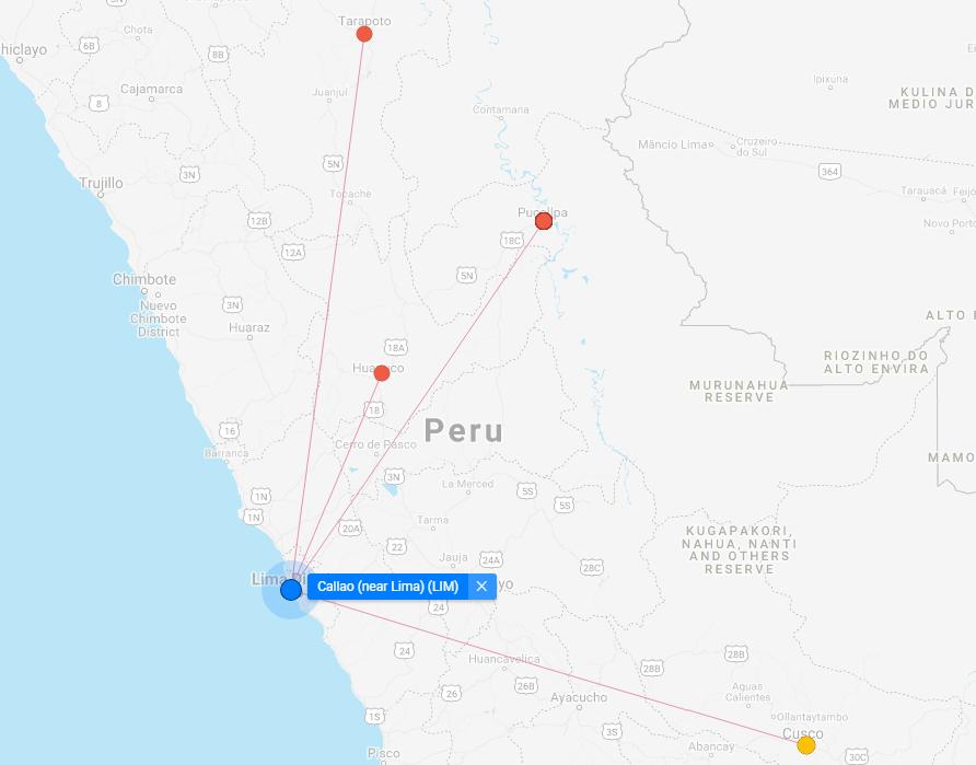 Star Peru Route Map