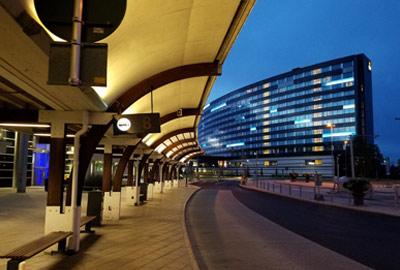 Stockholm Arlanda Airport at night