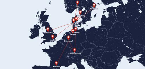 Sun Air route map
