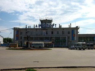 Outside building of Syktyvkar Airport