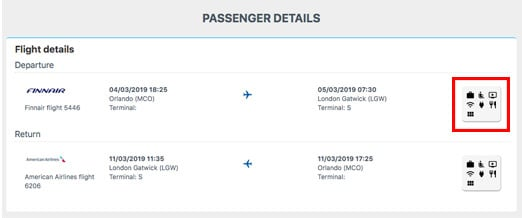 Screengrab of Alternative Airlines website showing power supply process