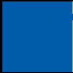 Blue trophy icon