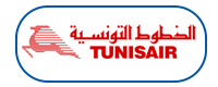 Tunisair logo in blue box