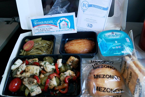 Example of Kosher Airline Meal with Turkish Airlines