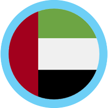 United Arab Emirate round flag