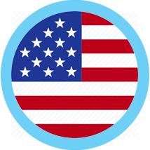 US Round flag